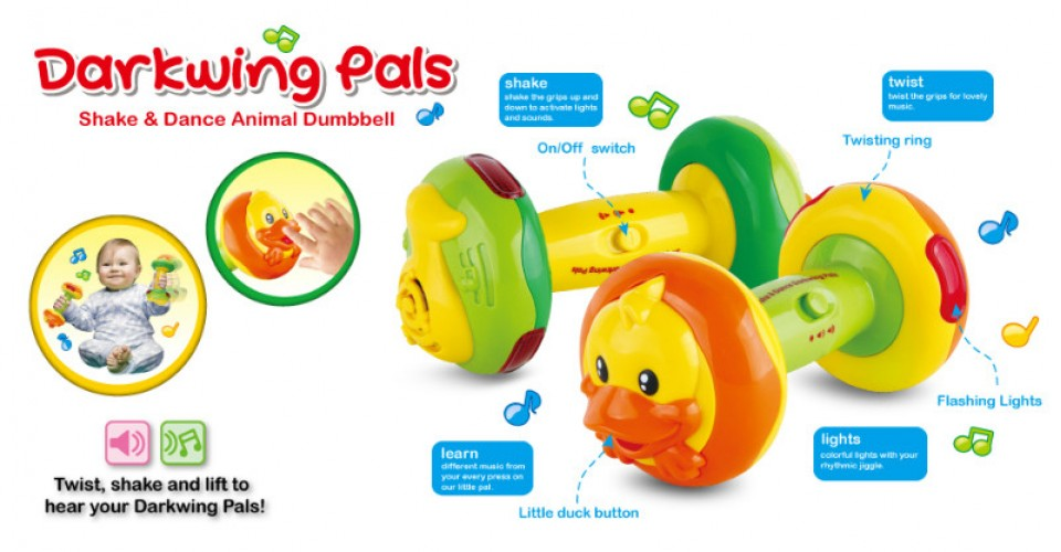 DUMBBELL TOYS WITH MUSIC AND LIGHT