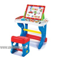 Learning desk with writing board