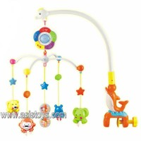 Baby bed bell with music and light