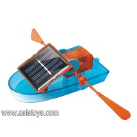 Plastic DIY Educational solar toy boat